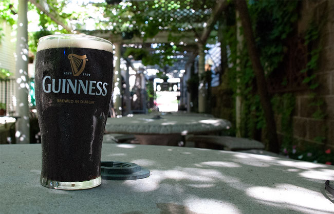 Paddy's Pub - Guinness on patio